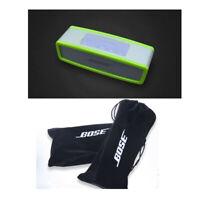 Green Bumper Travel Carry Case Bag For Bose SoundLink Mini Speaker+Exclusive Bag