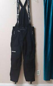 SPYDER Men Size L Short Thinsulate Ski Snowboard Pants Overall Winter Black