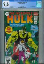 INCREDIBLE HULK #393 CGC 9.6, 1992, 30TH ANNIVERSARY GREEN FOIL COVER