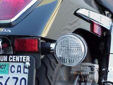 Honda Shadow 600 750 Spirit Phantom Sabre 1100 CLEAR LENSES with CHROME BULBS
