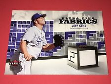 2006 Ultra Fine Materials #FM-Jk Jeff Kent Jersey Card NM/MT