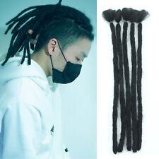 "New 15"" 5pcs Synthetic Dreadlocks Extensions Crochet Braid Hair Dreads Black"