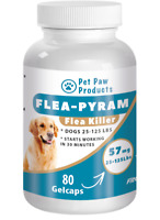 80 CAPSULES RAPID Flea Killer Capsules Dogs 25-125 Lbs 57 Mg SAME DAY SHIPPING