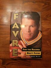 FOR THE RECORD Brett Favre FIRST Edition Dust Cover Hardback Gift Quality