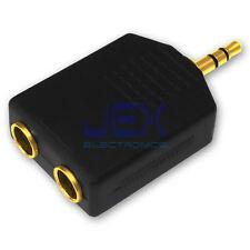"2-way Audio Headphone Splitter Male 3.5mm to Female 6.35mm 1/4"" Stereo Jack GP"