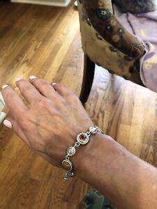Judith Ripka Jasper and Citrine Bracelet
