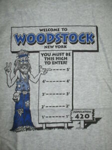"""Welcome to WOODSTOCK NEW YORK """"You Must Be This High to Enter!"""" (LG) T-Shirt"""