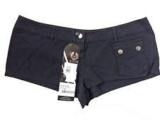 "Belstaff Ladies Shorts Size Medium Black Low Waist 33"""