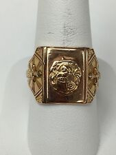 10K Yellow Gold Demolay Ring Size 10