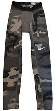 Nike Pro Combat Camo Gray Compression Pants Mens Small Gray Athletic