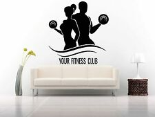 Wall Decor Vinyl Sticker Mural Decal Art Gym Fitness Club Logo Motivation FI1101