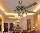 C8089 European 48 Inches 3 Lights Diameter 122CM Rope Control Ceiling Fans Light