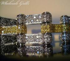 "NEW! $369 MENS HIP HOP SIMULATE YELLOW DIAMOND HIP HOP CANARY PAVE BRACELET 8.5"""
