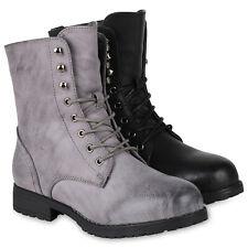Damen Schnürstiefeletten Warm Gefütterte Stiefel Stiefeletten 819758 Schuhe