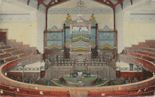 Omaha NE * 1st M.E. Church Interior & Pipe organ  1915 *