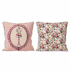 Victorian Style Floral 100% Cotton Decorative Cushions