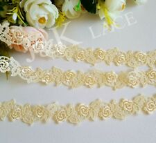 2.5 cm width Beautiful Pale Yellow  Venise Lace Trim