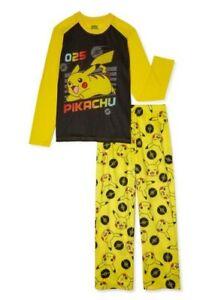Pokemon Boys Long Sleeve Pajama Set 2-Piece Size Med 8 NEW