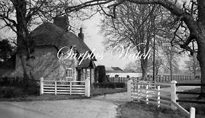 B/W Negative Brown Candover Hampshire Village Scene 1949 +Copyright W553