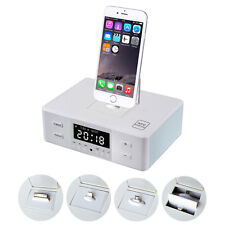 Remote Control NFC Wireless Alarm Clock Bluetooth Charger Dock Speaker iPhone6
