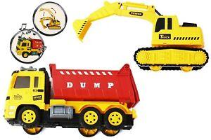 Baustellenfahrzeuge Kinder - Bagger und LKW Spielzeug Autos Fahrzeuge Spiel Set