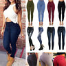 Women High Waist Stretch Skinny Slim Pencil Jeans Denim Pants Leggings Trousers