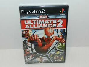 Marvel Ultimate Alliance 2 Sony Playstation 2 PS2 Game Brand New Sealed Black