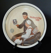 "Mother's Day Plate ""My Mother"" Rockwell Soldier Overseas Shares Picture of Mom"