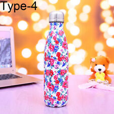 500ml Water Bottle Vacuum Insulated Flask Thermal Sport Chilly Cold/Hot Cups UK