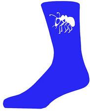 Chaussettes bleu haute qualité avec un blanc fourmi, joli cadeau d'anniversaire