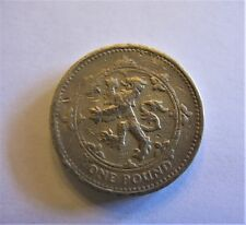 United Kingdom One Pound Commemorative Coin 2 Errors Lion Rampant 1995 & Edge