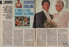 Coupure de presse Clipping 1986 Sylvester Stallone   (3 pages)