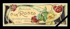 Rare French Soap Label: Art Nouveau - Savon A La Rose Victor Vaissier No. 323