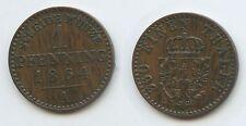 G14167 - Brandenburg-Preußen 1 Pfennig 1864 A TOP KM#480 Wilhelm I. 1861-1888