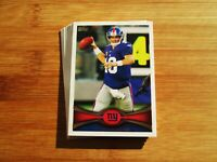 2012 Topps Football New York Giants TEAM SET - Eli Manning