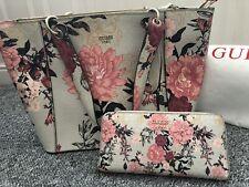 Guess Shopper Tote Handbag And Purse Matching Set Floral