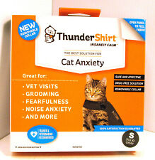 Thundershirt Cat Anxiety Shirt/Wrap Small <9 Pounds Solid Gray T02-Hgs New