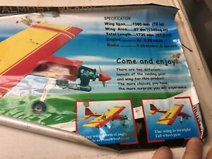 """(Old Stock) Drastic RC Almost Ready to Fly R/C Airplane kit 78"""" Wing Span"""
