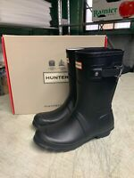 NIB - Hunter Short Black Matte Woman's Rain boots Authentic New Pick Size