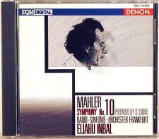 DENON PCM DIGITAL Mahler INBAL Symphony #10 (CD, 1992, JAPAN) CO-75129
