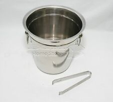 Stainless Steel Party Champagne Ice Bucket & Tong Set Salad Sweet Bar Buffet BBQ