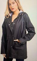 Mackintosh Womens Anorak Windbreaker Rain Jacket w/ pockets Black Large New