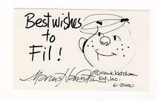 Hank Ketcham Marcus Hamilton Dennis The Menace Hand Signed Sketch 3 x 5 Card Comic Art