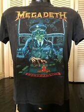 VTG 90 Megadeth Tour Shirt Sz M/L Rock Slayer Metal Metallica Maiden Priest Dio