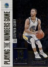 2017 - 18 Contenders Stephen Curry Golden State Warriors Numbers Game #33
