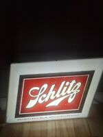 Rare 32x20 1950s Vintage Schlitz Lighted Beer Sign Bar Light