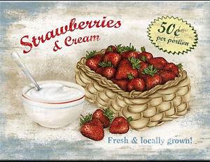 Magnet 8 x 6 Strawberries with Cream Strawberries & Cream Freezer Refrigerator