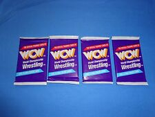 91'-92' LOT OF 4 NEW UNOPENED PACKS (12 Cards Each ) WCW WRESTLING TRADING CARDS