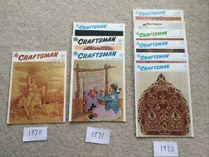 The Craftsman serving leather craftsmen, 1970- 1972 lot of 10. See Description.