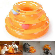 Cat Pet Frisbee Toy Interactive Kitten Activity Crazy Ball Game Three Tracks Fun